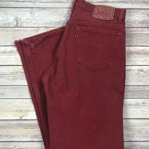 Vintage 501 Levi's Red Jeans Men's 34 x 34